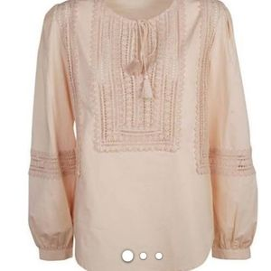 TORY BURCH PINK COTTON BLOUSE/ tunic  SIZE S